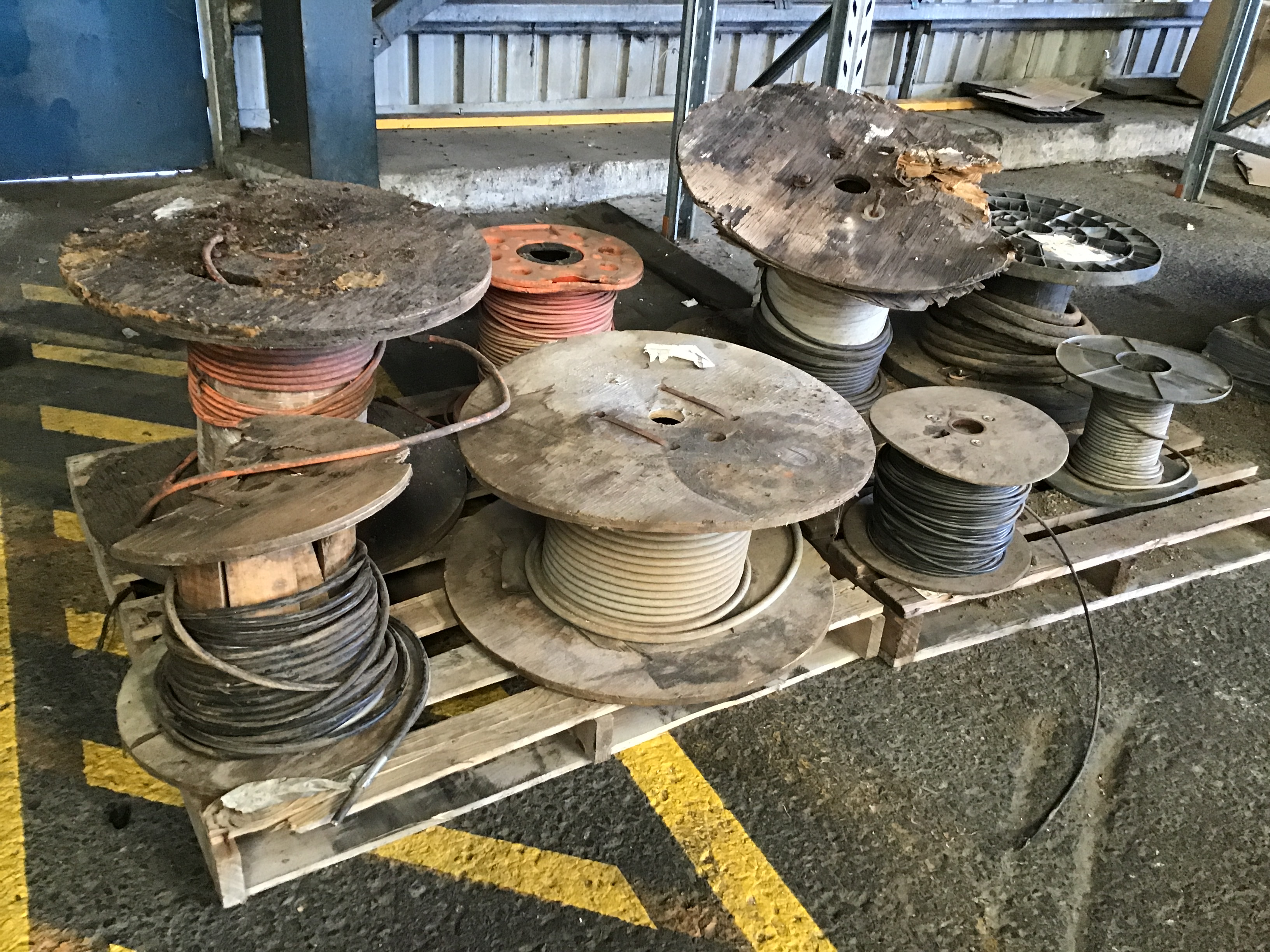2 Pallets x 8 Part Reels of Various Electrical Cabling