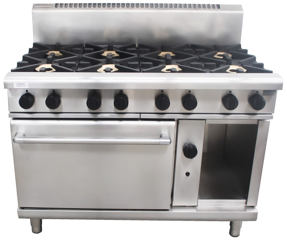 WALDORF 800 SERIES GAS 8 BURNER STOVE WITH OVEN