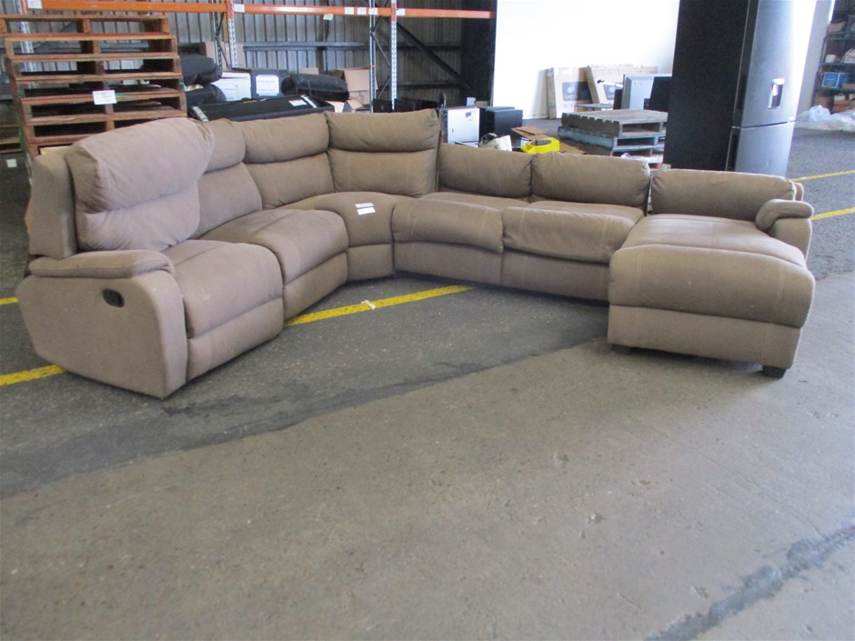Porter Clay 6-Seater Modular Lounge with Sofa Bed
