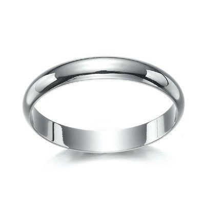 18ct Rhodium Layered Men's Band Ring (4mm) - US Size 13