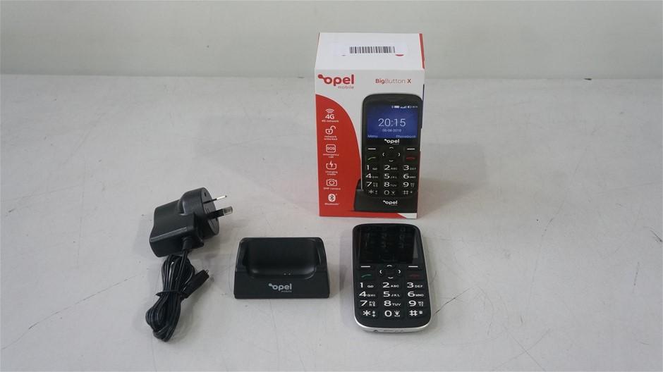 Opel BigButtonX 4GB 512MB 2.31-Inch Mobile Phone, Black