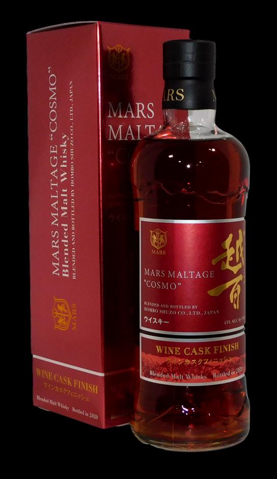 Mars Maltage Cosmo Wine Cask Blended Japanese Malt Whisky 2020 (1x 700mL)