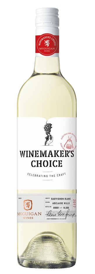 McGuigan Wine Makers Choice Sauvignon Blanc 2017 (6 x 750mL) Adelaide Hills