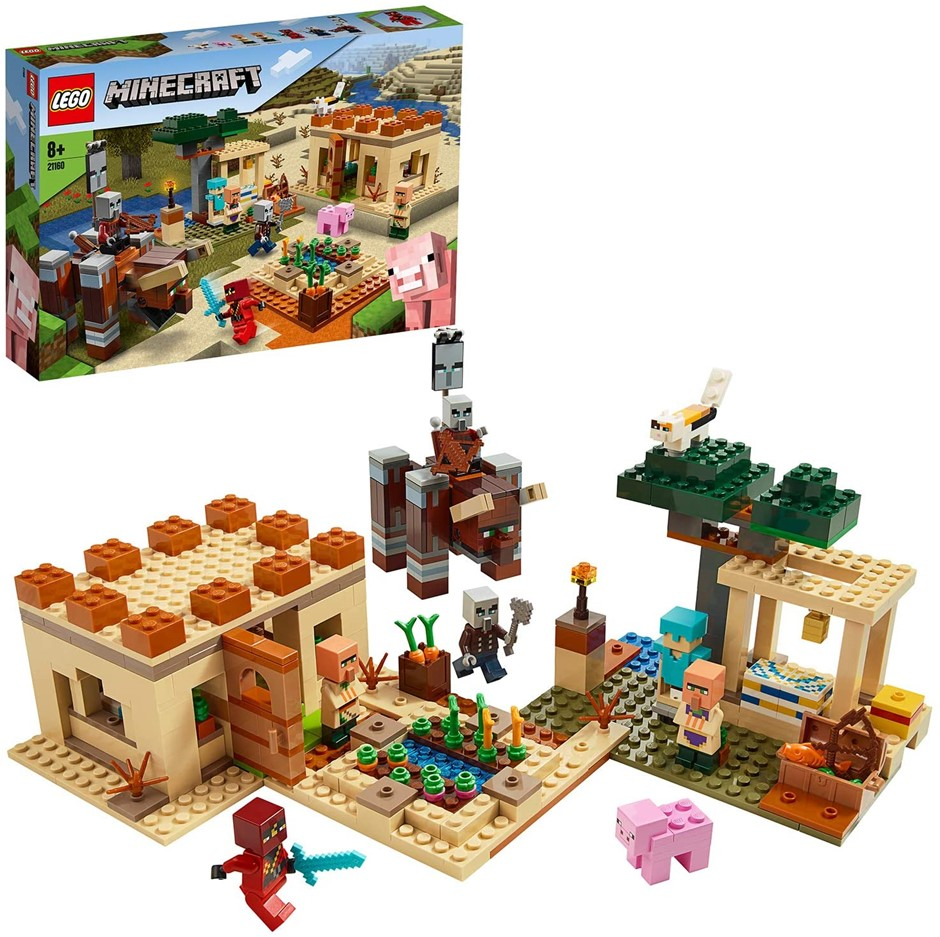 LEGO Minecraft The Villager Raid 21160 Building Toy Action Playset