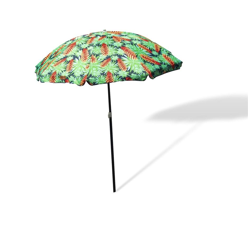 Outdoor Garden Beach Umbrella 1.8m Sun Shade Sun Protection w/Carry Bag