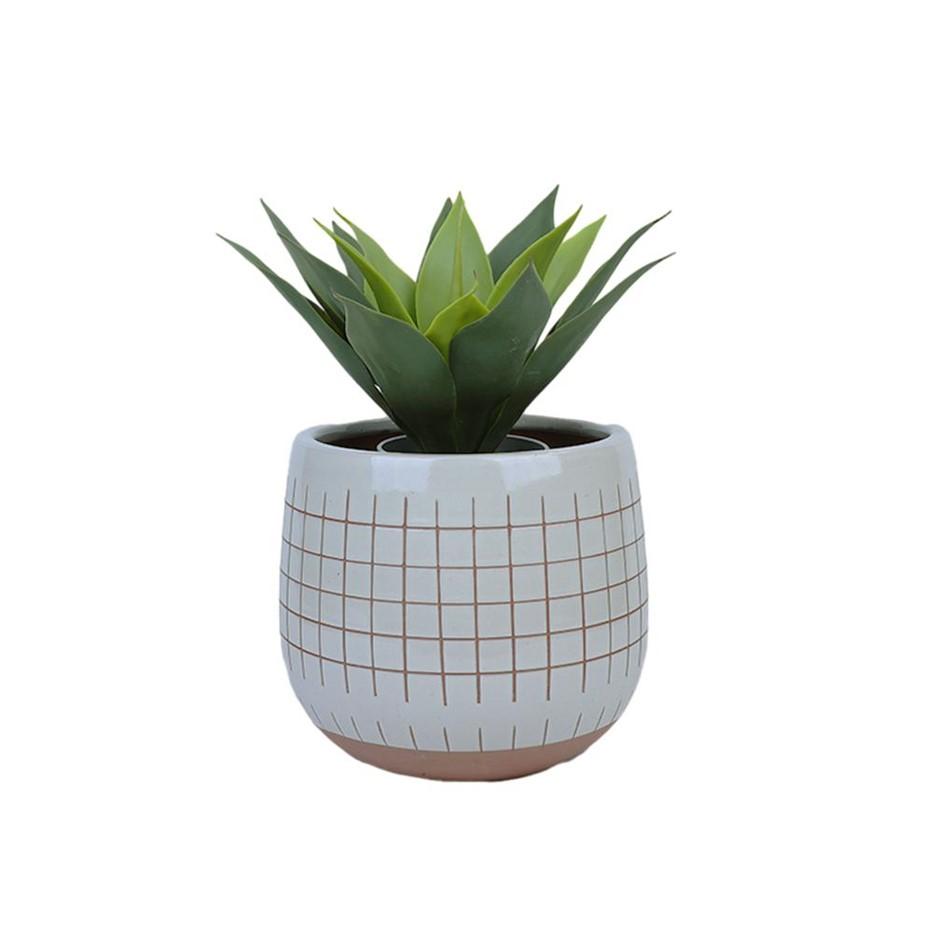35cm Faux Artificial Home Decor Potted Succulent Foliage Plant Gift Office