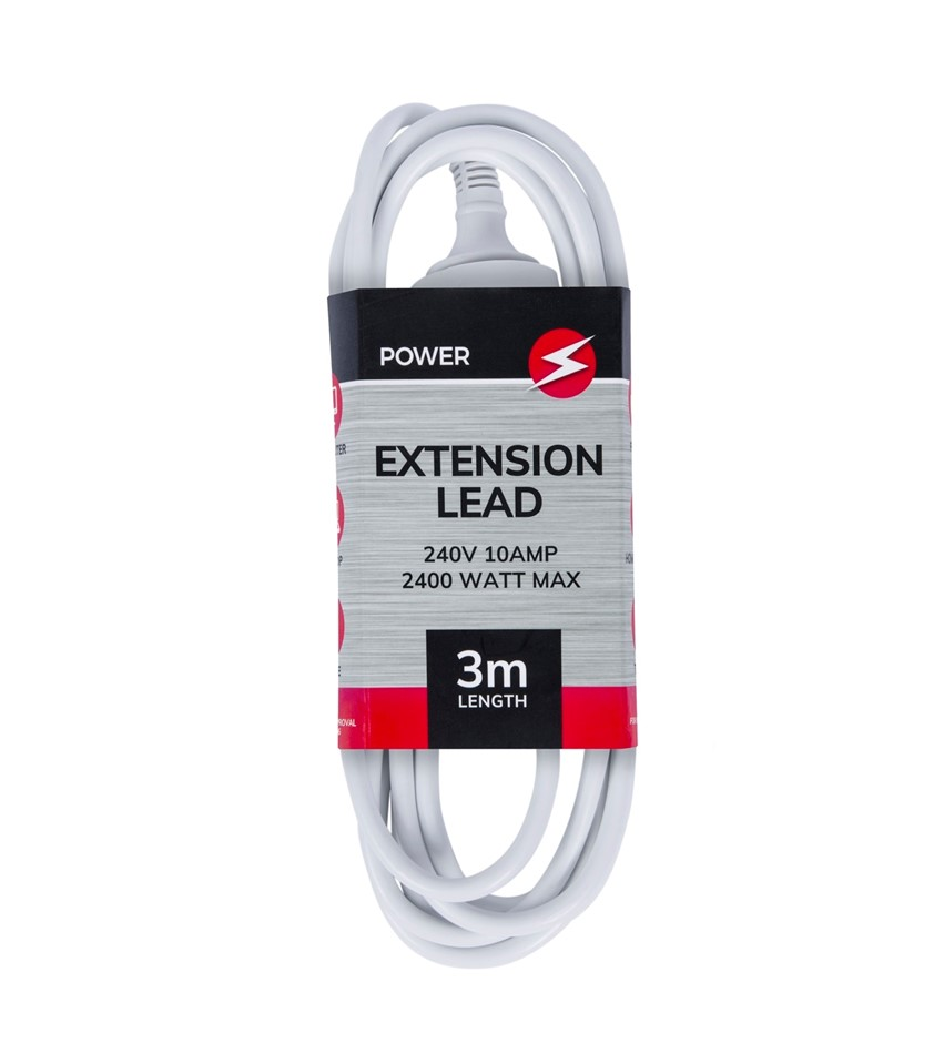 Power Extension Lead Standard Australian 240V 3-Pin Plug Cord Cable 3M SAA