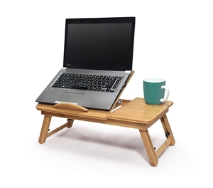 Portable Foldable Deluxe Bamboo Laptop P