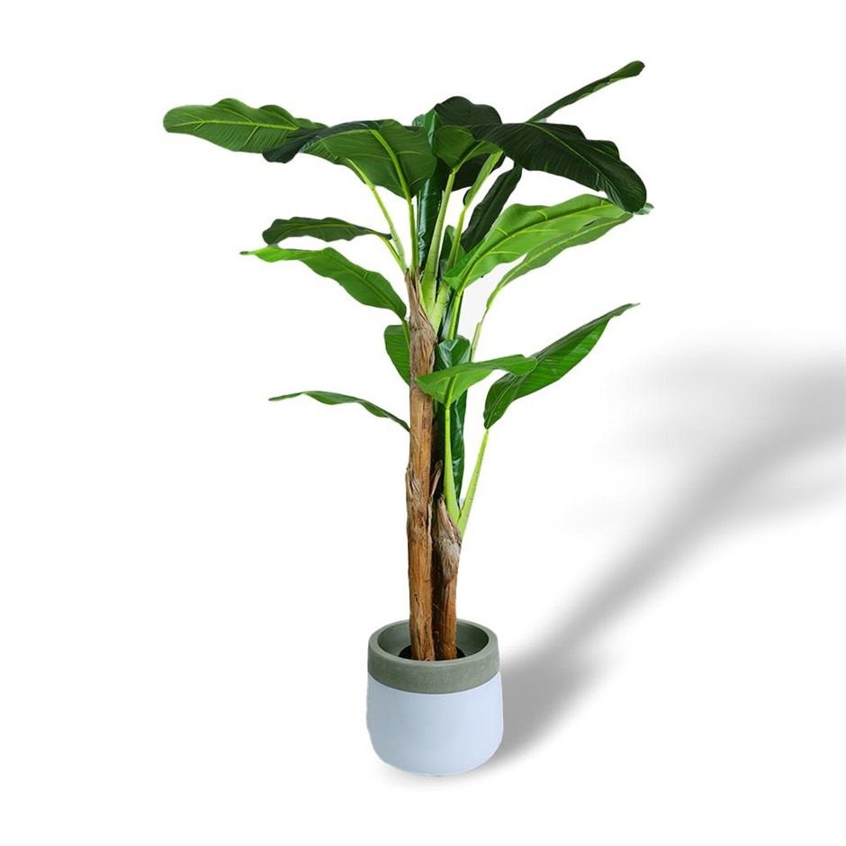 180cm Faux Artificial Fake Potted Banana Tropical Tree Plant Home Décor