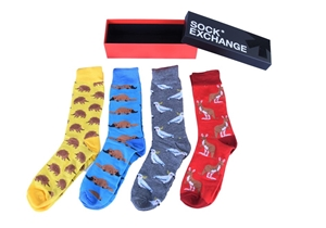 Unisex Bright Socks Sox Novelty RED Funk
