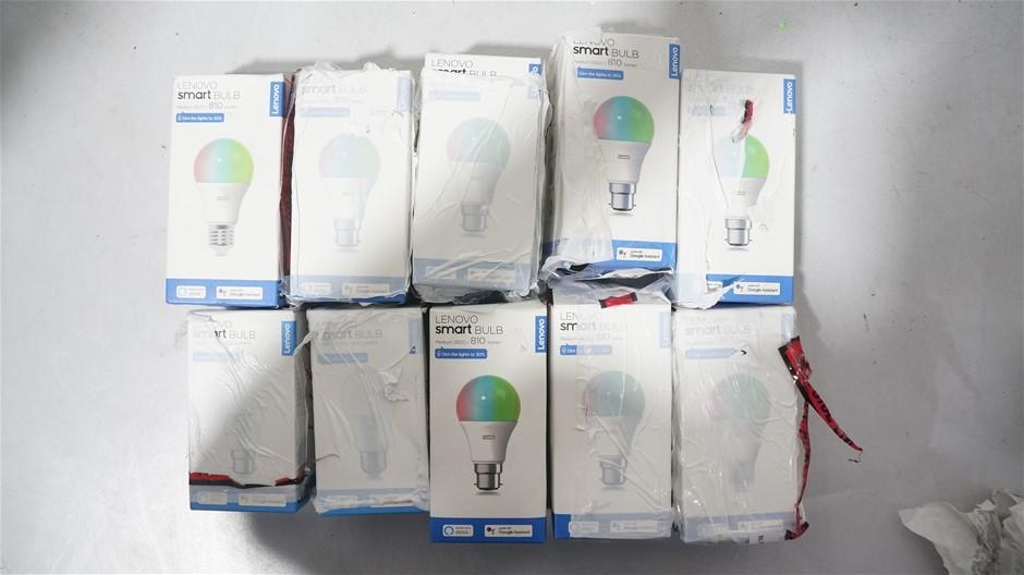 Box of USED/UNTESTED Lenovo SMART Bulb's
