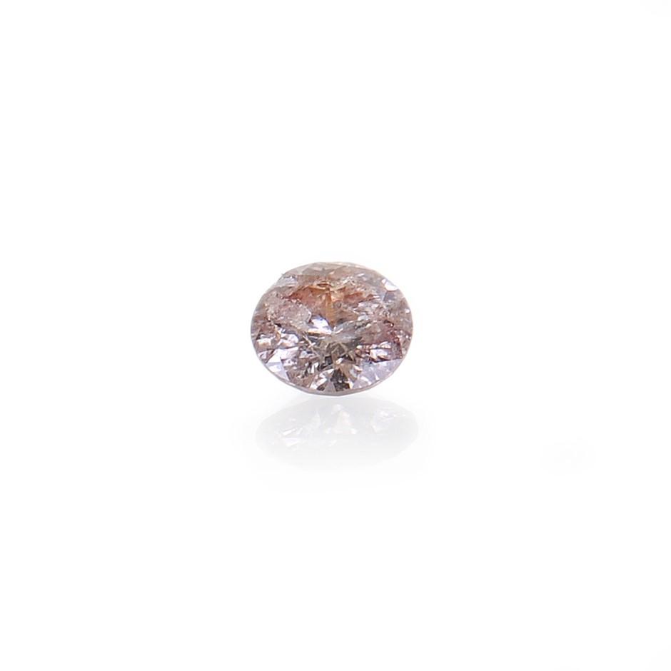 0.005ct Light pink diamond
