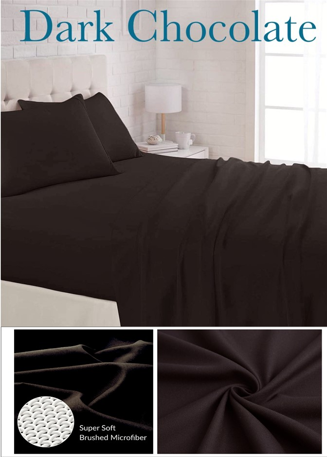Single Bed 1800TC Super Soft Microfiber Flat, Fitted sheets & 2 Pillowcases