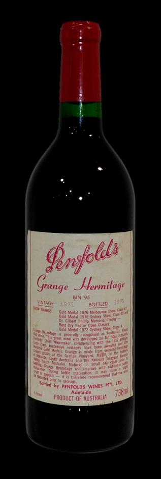 Penfolds Bin 95 Grange 1971 (1x 738mL, Clinic) (278946-1)