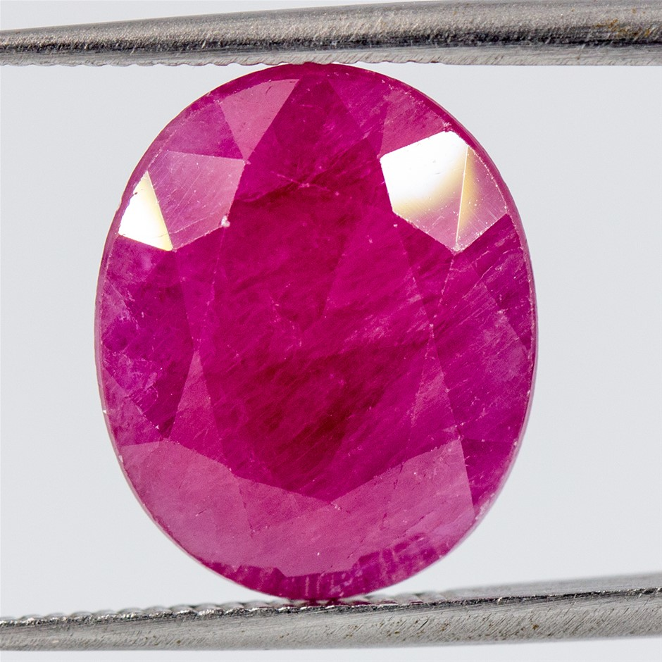One Loose Ruby, 6.09ct in Total
