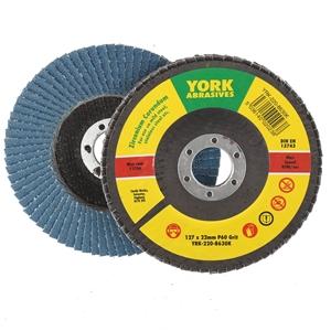 7 x YORK Zirconia Flap Discs, 127mm x 22