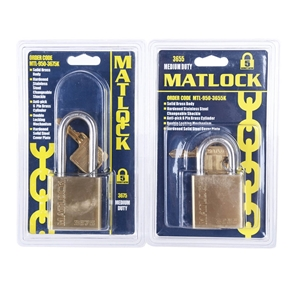 5 x MATLOCK Heavy Duty Solid Brass Padlo