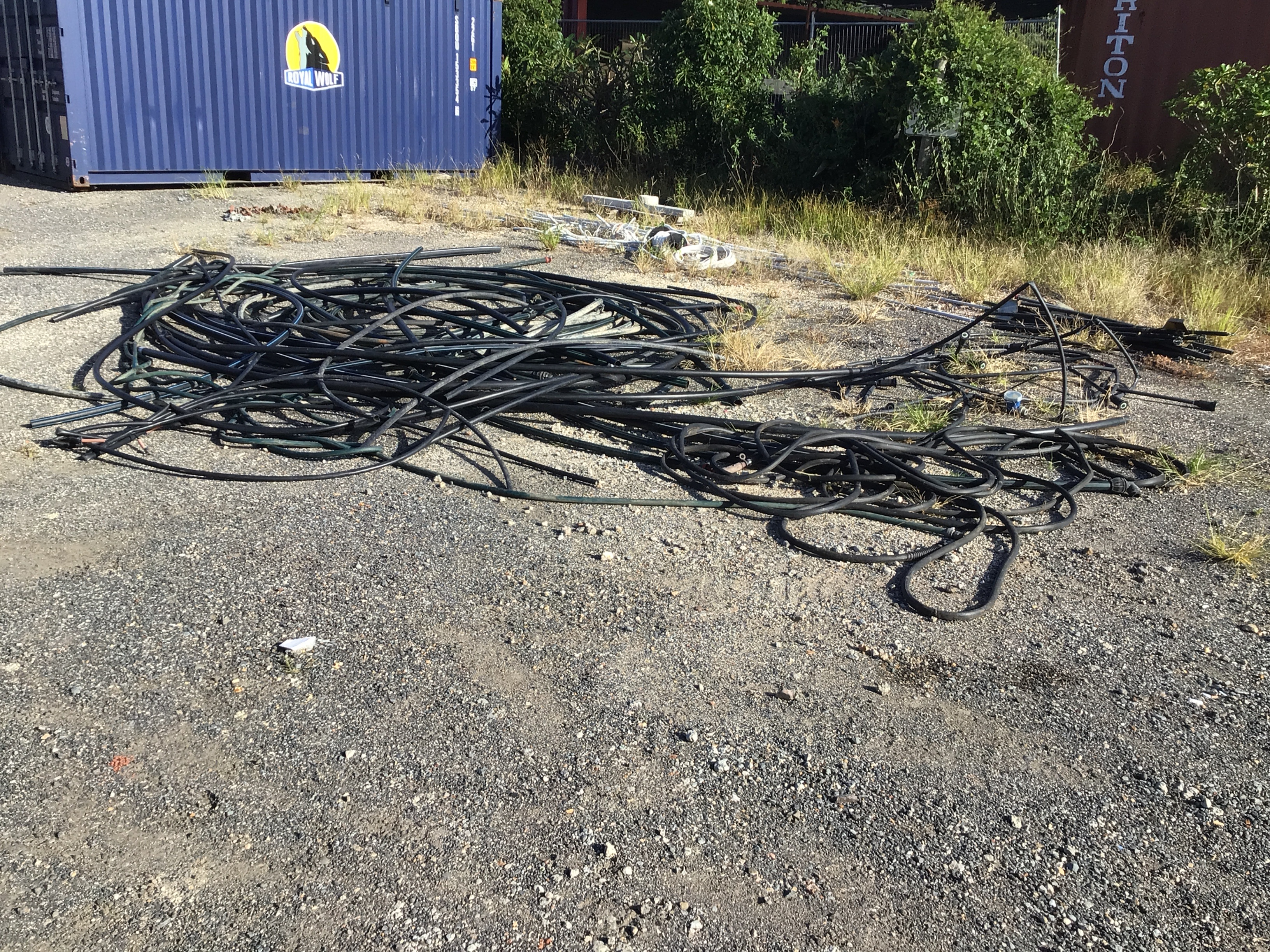 Large Qty Various Irrigation Poly Piping w/Electrical Wiring and Conduit