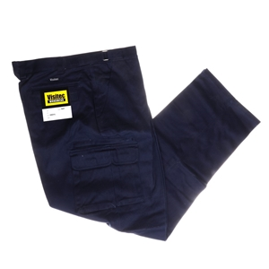 VISTEC Cotton Drill Work Trousers, Size