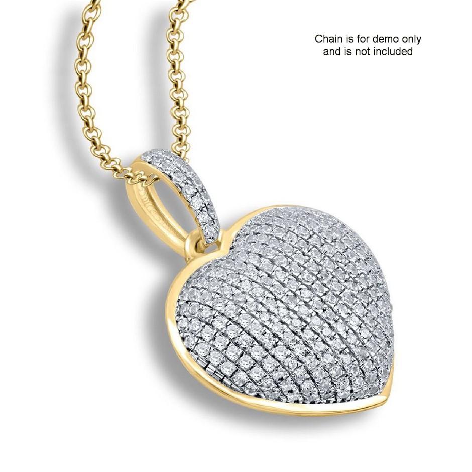 9ct Yellow Gold, 0.26ct Diamond Pendant