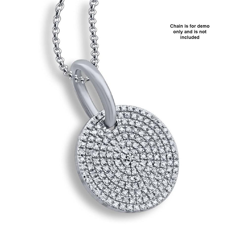 9ct White Gold, 0.23ct Diamond Pendant