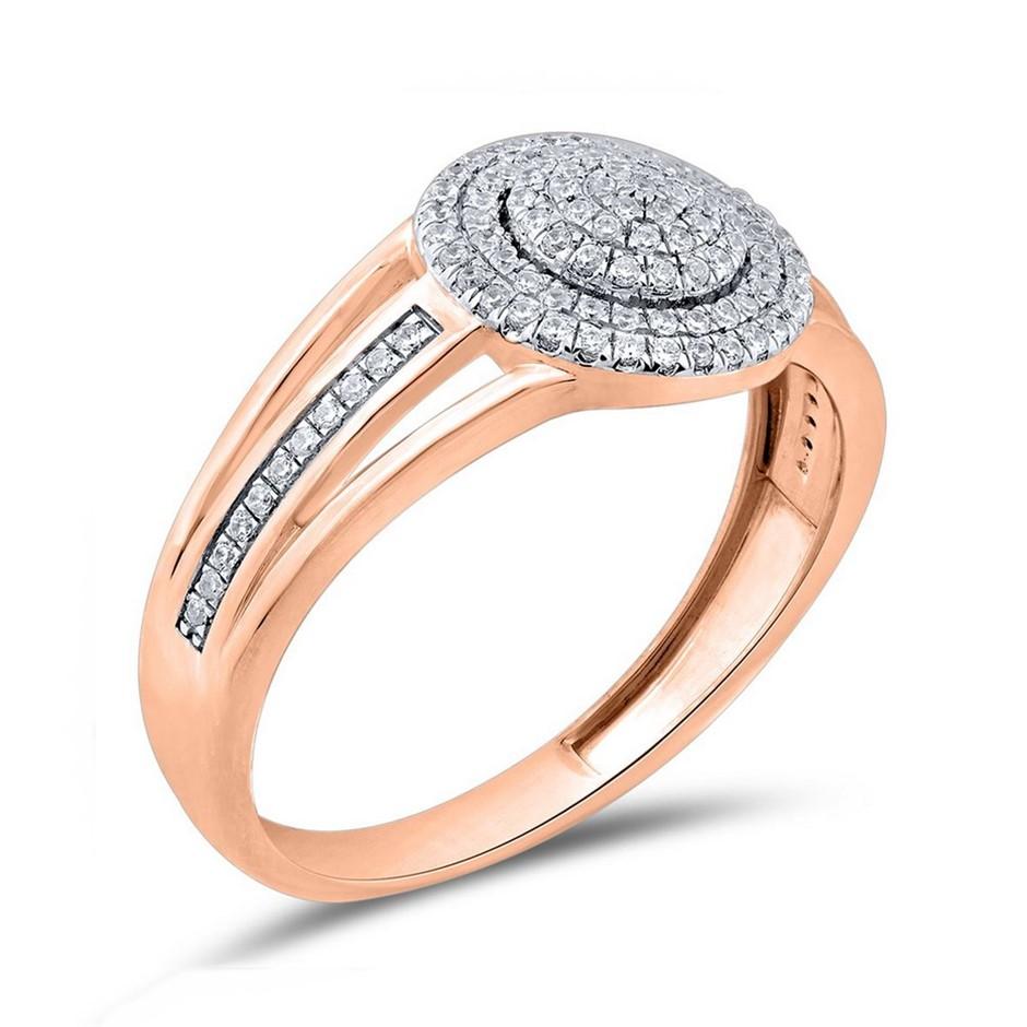 9ct Rose Gold, 0.17ct Diamond Ring