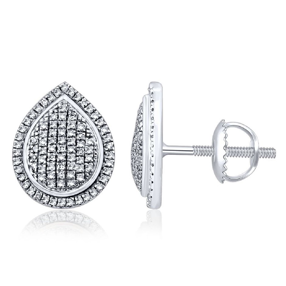 9ct White Gold, 0.25ct Diamond Earring