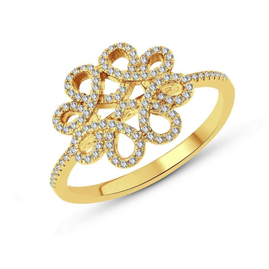 9ct Yellow Gold, 0.16ct Diamond Ring