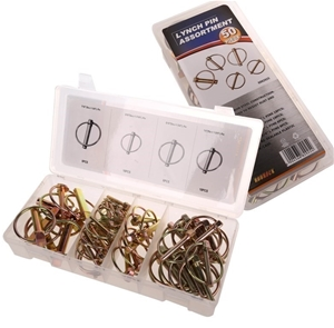 50pc Lynch Pin Assortment Contents: Refe