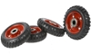 4 x Solid Rubber Wheels 150mm, 18mm Centre. Buyers Note - Discount Freight