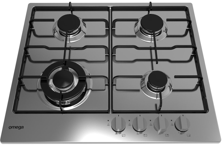 Omega 60cm Natural Gas Cooktop (OCG61XA) - ORP: $499