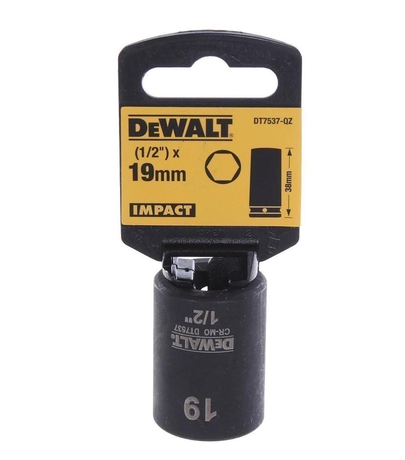 DeWALT 1/2`` Drive Impact Socket 19mm. Buyers Note - Discount Freight Rates