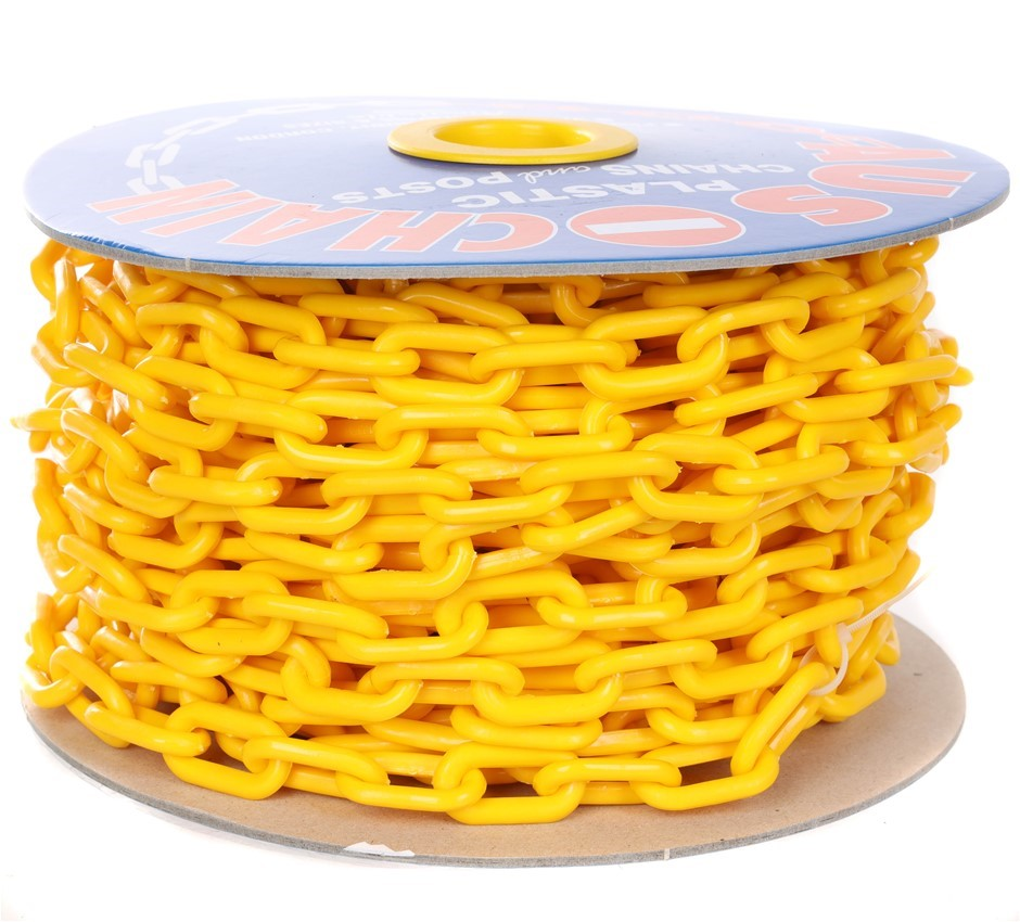 Reel Plastic Chain 6mm x 24M, Yellow. (SN:YC-2460) (281445-101)
