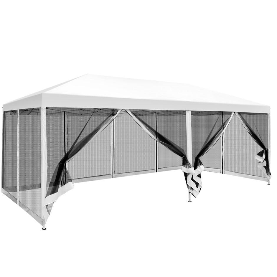 Instahut 3x6m Pop Up Gazebo Wedding Marquee Mesh Walls Canopy Outdoor Tent
