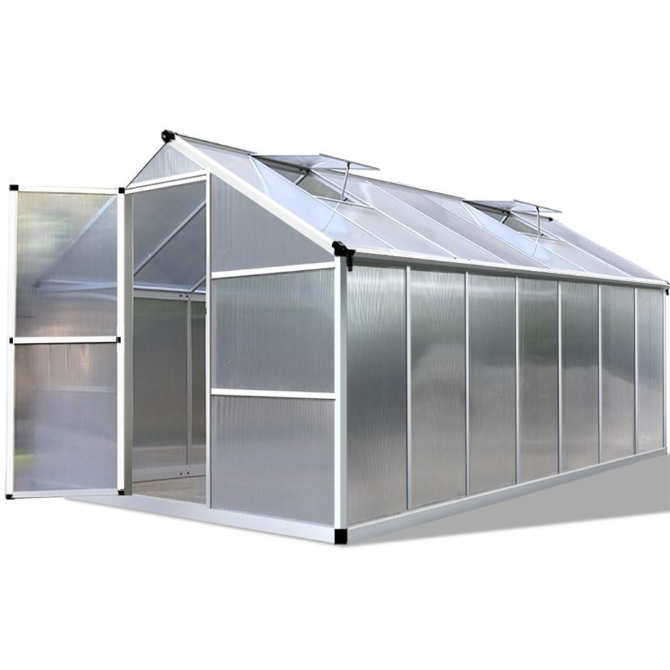 Green Fingers 4.2 x 2.5m Polycarbonate Aluminium Greenhouse