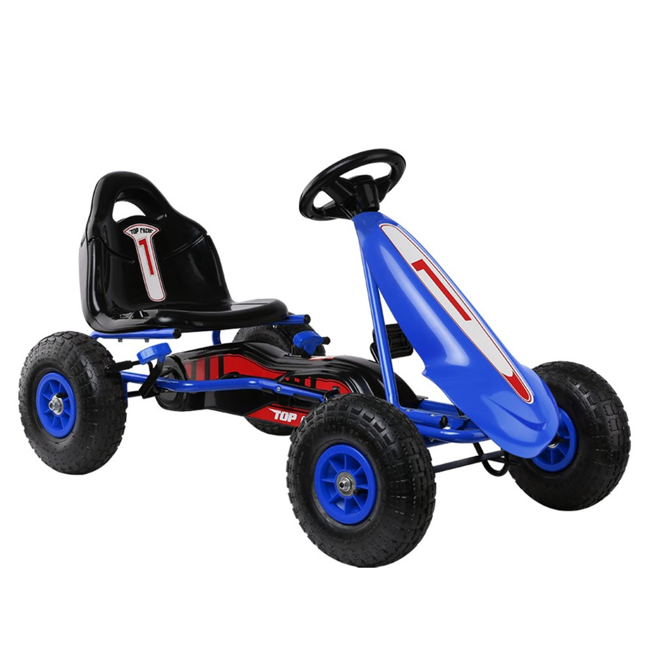 Rigo Kids Pedal Go Kart Ride On Toy Racing Bike Rubber Tyre Adjustable Seat