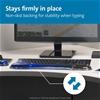 KENSINGTON Wrist Rest for Keyboards, Blue, Black. (SN:B0178FBICI) (281380-3