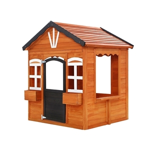 Keezi Kids Cubby House Wooden Outdoor Pl