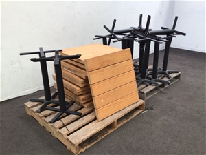 12x Dismantled Cafe Tables