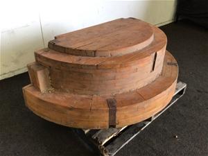 Half Round Wooden Abstract Design