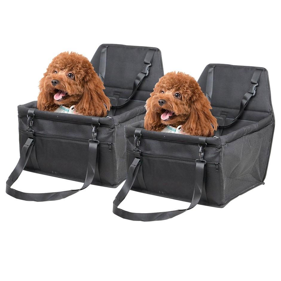 SOGA 2X Waterproof Car Seat Pet Booster Black
