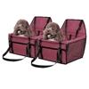 SOGA 2X Waterproof Car Seat Pet Booster Red