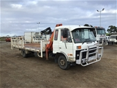 Nissan CM180 Tray Body Truck & Liquid Waste Tank