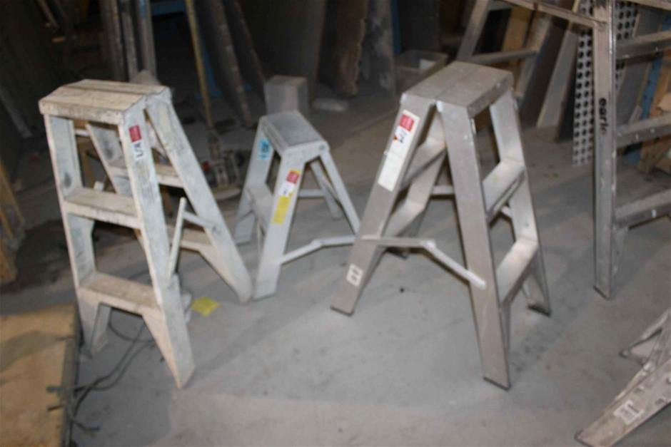 3 x Assorted Aluminium Step Ladders