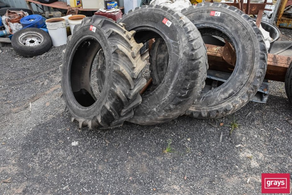 3x Assorted Agricultural Tyres