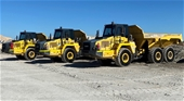 3 x 2017 Komatsu HM300-2 Articulated Dump Trucks