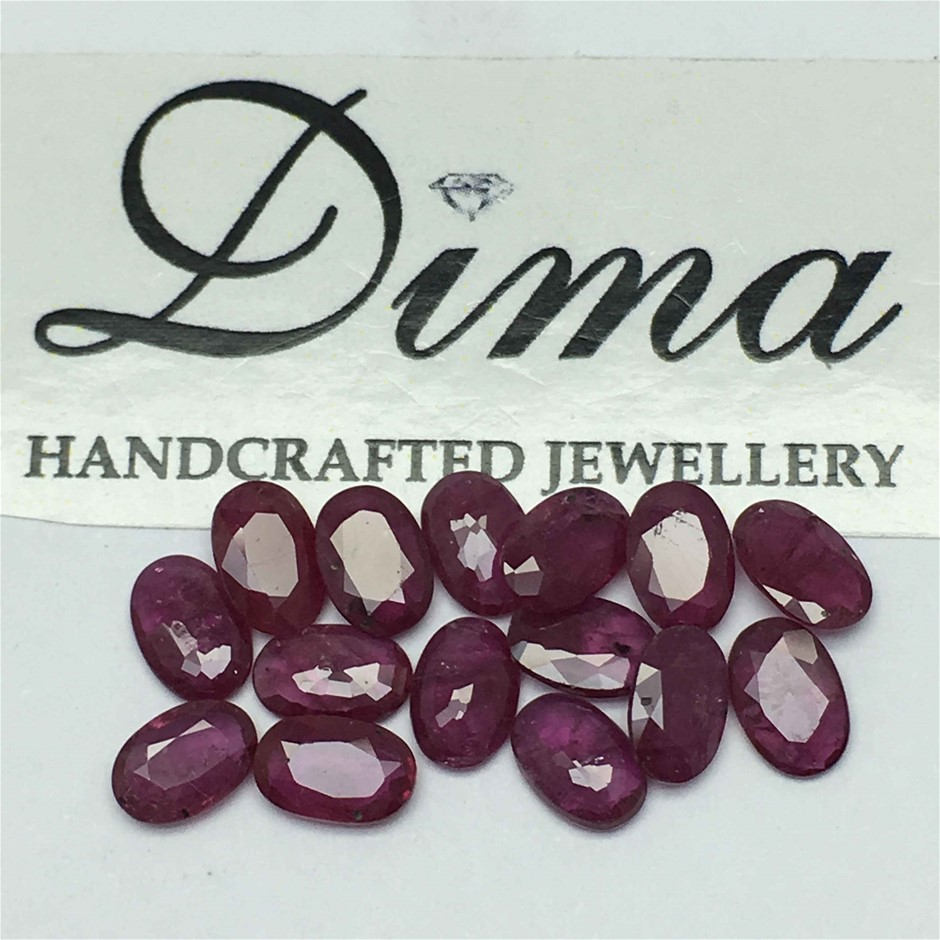 Fifteen Loose Ruby, 6.52ct in Total