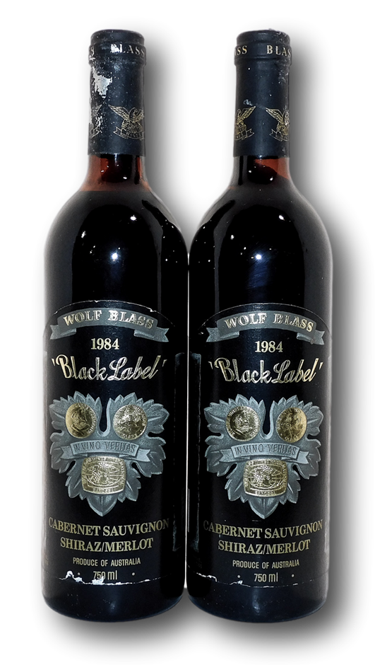 Wolf Blass Black Label Cabernet Shiraz Merlot 1984 (2x 750mL), SA