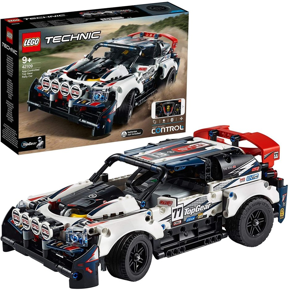 LEGO Technic App-Controlled Top Gear Rally Car 42109 Toy Building Kit