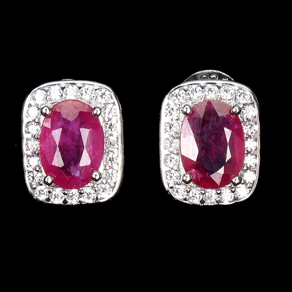Phenomenal Genuine Ruby Earrings.